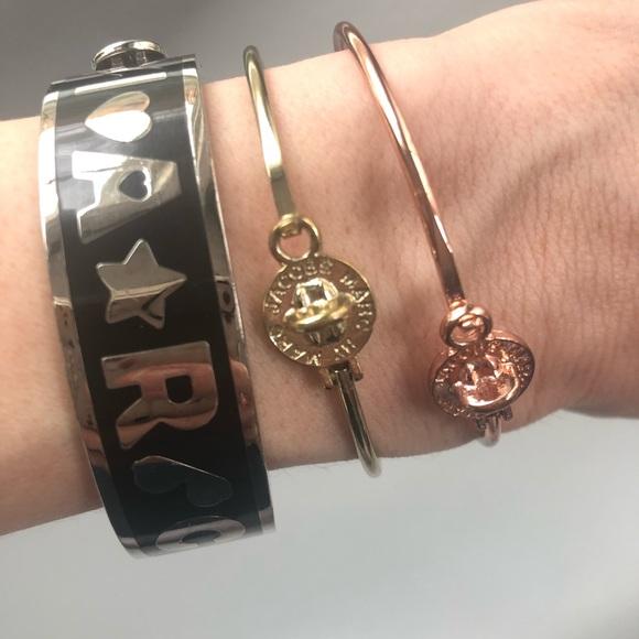 Marc Jacobs logo bangles bracelets
